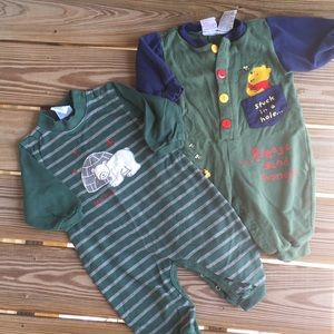 Boy's 12 Mos Set of 2 One Pieces